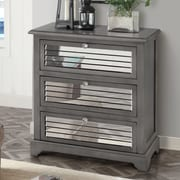Gallerie Decor Summit Mirrored 3 Drawer Chest