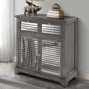 Gallerie Decor Summit Mirrored 2 Drawer Cabinet