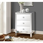 Gallerie Decor Reflections 3 Drawer Cabinet; Mirror
