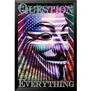 Buy Art For Less 'Question Everything' by Daveed Benito Framed Graphic Art
