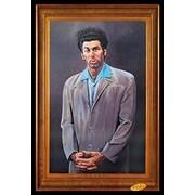 Buy Art For Less 'Cosmo Kramer Portrait - Seinfeld TV Show' Framed Painting Print