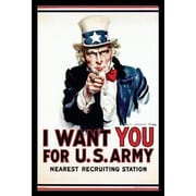 Buy Art For Less 'Vintage US Army Recruiting Poster I Want You' Framed Graphic Art