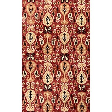 Meva Rugs Belize Red Area Rug; Square 1'6''