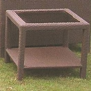 Wicker Warehouse Caribbean Side Table; Coffee Brown