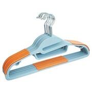 Zen Closet Dry Wet Clothes Amphibious Non-Slip Hanger (Set of 50); Orange