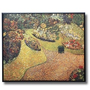 Wellyer ''Garden in Auvers'' by Vincent Van Gogh Framed Painting Print