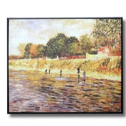 Wellyer ''The Banks of the Seine River, Paris'' by Vincent Van Gogh Framed Painting Print