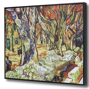 Wellyer ''The Large Plane Trees'' by Vincent Van Gogh Framed Painting Print