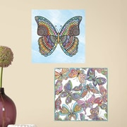 Room Mates Butterfly Peel and Stick Color Wall Decal