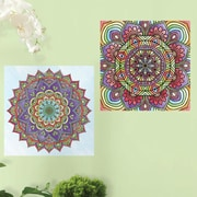 Room Mates Mandala Peel and Stick Color Wall Decal