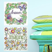 Room Mates Dream/Imagine Peel and Stick Color Wall Decal