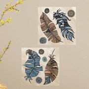 Room Mates Feathers Peel and Stick Color Wall Decal