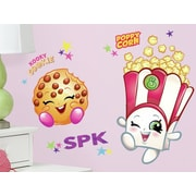 Room Mates Poppy Corn and Kooky Cookie Shopkins Peel and Stick Giant Wall Decals