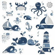 Room Mates Nautical Sea Friends Peel and Stick Wall Decals