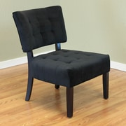 Monsoon Pacific Raalte Upholstered Side Chair; Black