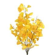 AdmiredbyNature 7 Stems Artificial Ginko Bush Desk Top Plant; Gold