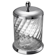 Windisch by Nameeks Spiral 2.72 Gallon Manual Twisted Glass Trash Can; Chrome