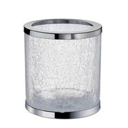 Windisch by Nameeks 2.08 Gallon Twisted Glass Trash Can; Chrome