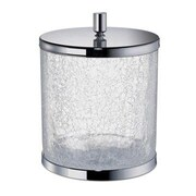 Windisch by Nameeks 2.45 Gallon Manual Crackled Glass Trash Can; Gold