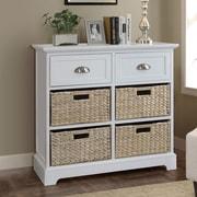 Gallerie Decor Newport 2 Drawer 4 Basket Chest; Cream