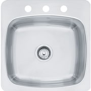 Franke Axis 18'' x 20.55'' Single 20 Gauge 3 Hole Utility Sink