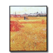 Wellyer ''Arles View from the Wheat Fields'' by Vincent Van Gogh Framed Painting Print