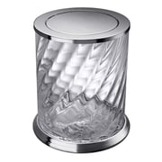 Windisch by Nameeks Spiral 2.16 Gallon Swing-Top Twisted Glass Trash Can; Chrome