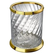 Windisch by Nameeks Spiral O2.16 Gallon Twisted Glass Trash Can; Gold