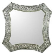 Novica Khalid Ali Repousse Nickel over Brass Wall Mirror