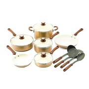 Trisha Yearwood Trisha Yearwood 14-Piece Non-Stick Cookware Set; Copper