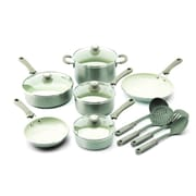 Trisha Yearwood Trisha Yearwood 14-Piece Non-Stick Cookware Set; Titanium