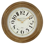 Aspire 23.5'' Hayes Wooden Wall Clock