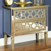 Aspire Lorina Mirrored 2 Drawer Chest