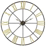 Aspire Oversized 48'' Baldwin Metal Wall Clock