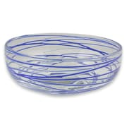 Novica Javier and Efren Blown Glass Salad Bowl