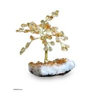 Novica 4.5' Yellow Artificial Christmas Tree