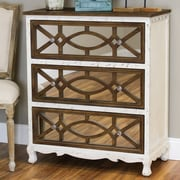 Aspire Lara French Country 3 Drawer Chest; White