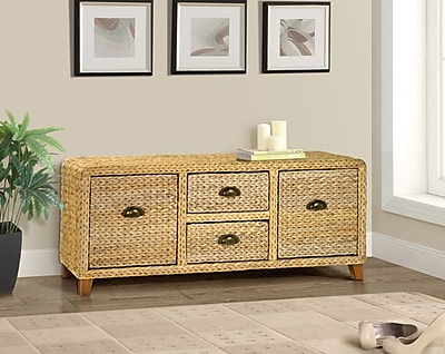 Gallerie Decor Bali Breeze Wood Storage Entryway Bench; Natural WYF078278307661