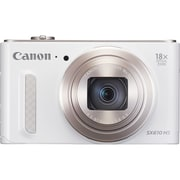 Canon PowerShot SX610 HS 21.1 MP Compact Digital Camera, 18x Optical Zoom, 4.5 mm - 81 mm, White