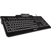 CHERRY KC 1000 SC USB Wired Smartcard Keyboard, Black