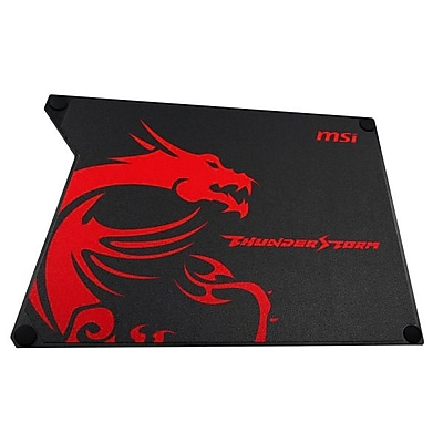 msi Thunderstorm Aluminum 2 mm x 225 mm x 320 mm Gaming Mouse Pad, THUNDERSTORM