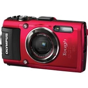 Olympus Tough TG-4 16 MP Compact Digital Camera, 4x Optical Zoom, 4.5 mm - 18 mm, Red