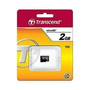 Transcend® TS2GUSDC Standard 2GB MicroSD Flash Memory Card