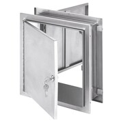 Omnimed Pass-Thru Cabinet with Key Lock - Adjustible Flange (181785)