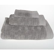 Mi Casa Deco Darwin 3 Piece Bath Towel Set; Light Gray