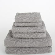 Mi Casa Deco Sanderson 6 Piece Towel Set; Light Gray