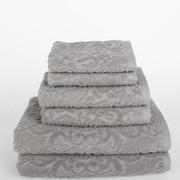 Mi Casa Deco Sanderson 6 Piece Towel Set (Set of 6); Light Gray