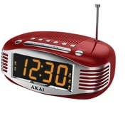 Akai Alarm Radio Clock; Red