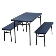 Cosco Home and Office 3 Piece Indoor/Outdoor Tailgate Set; Dark Blue