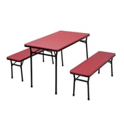 Cosco Home and Office 3 Piece Indoor/Outdoor Tailgate Set; Red